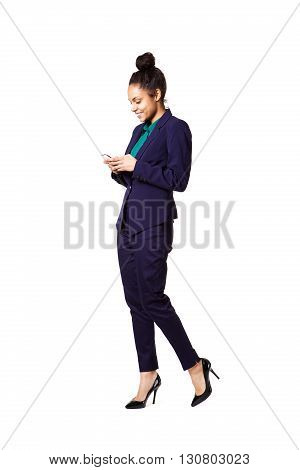 Young Business Woman Using Cell Phone