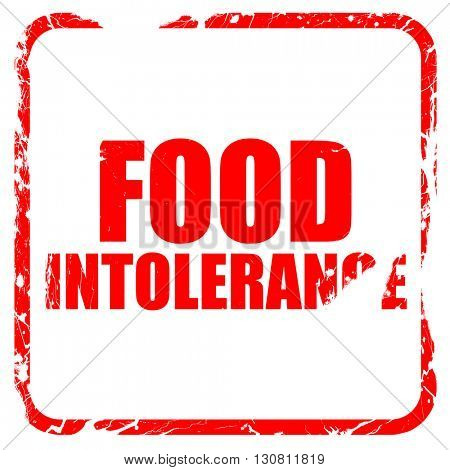 food intolerance, red rubber stamp with grunge edges