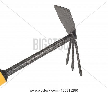 Garden hoe tool isolated on white background