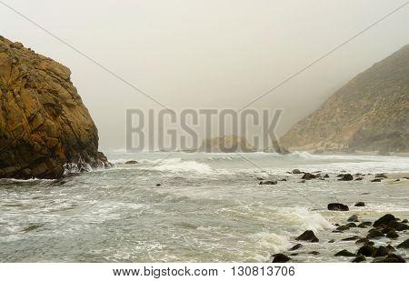 Foggy day at Julia Pfeiffer state park California