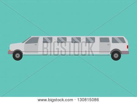 Limousine illustration. limousine on white background. Gray limousine vector. limousine illustration. Limousine isolated vector