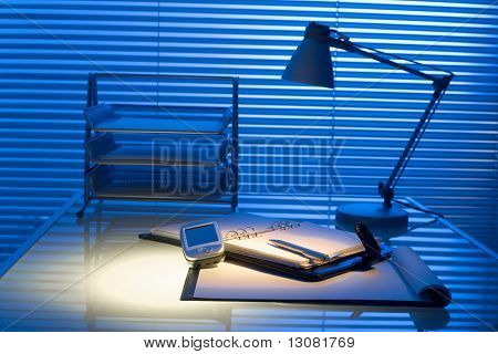 Typical desk in a typical office.