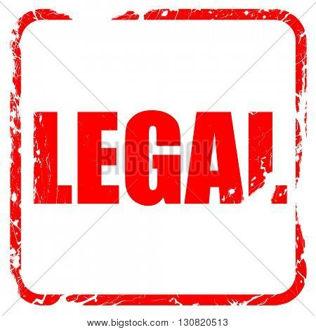 legal, red rubber stamp with grunge edges