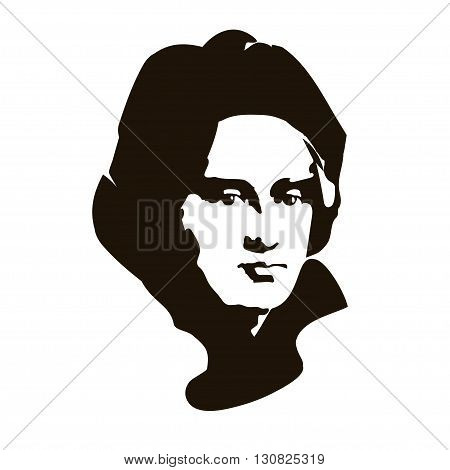 vector portrait of Christopher Columbus - Spanish sailor and traveler