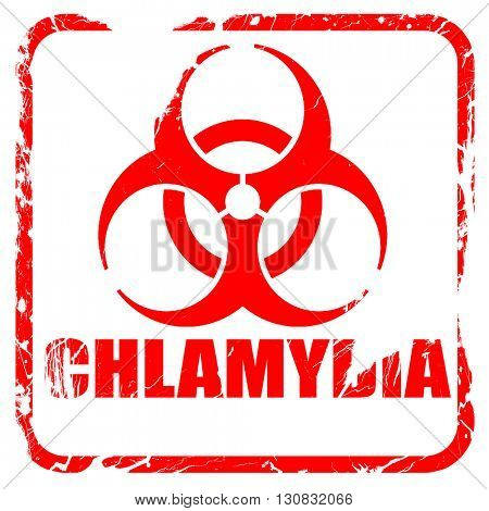 Chlamydia concept background, red rubber stamp with grunge edges