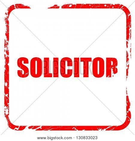solicitor, red rubber stamp with grunge edges