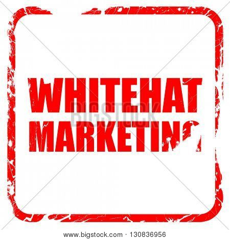 whitehat marketing, red rubber stamp with grunge edges