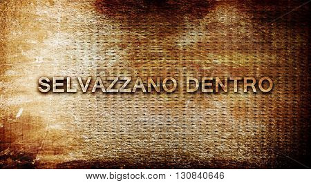 Selvazzano dentro, 3D rendering, text on a metal background