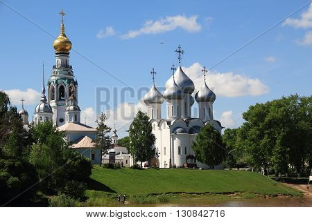 Vologda, Russia - May 27. This is a historic city center near Vologda Kremlin May 27, 2013 in Vologda, Russia.