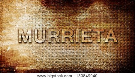 murrieta, 3D rendering, text on a metal background