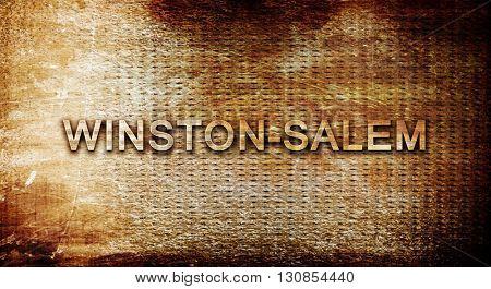 winston-salem, 3D rendering, text on a metal background