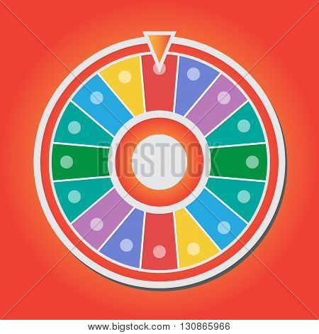 Wheel of fortune vector icon eps 10