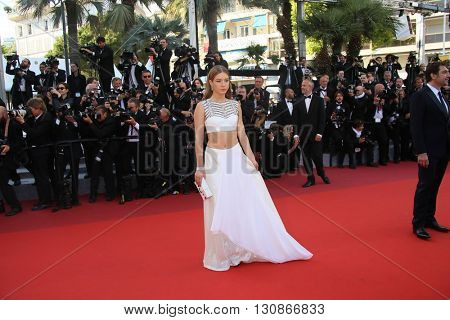 Adele Exarchopoulos attends 'The Last Face' Premiere during the 69th annual Cannes Film Festival at the Palais des Festivals on May 20, 2016 in Cannes, France.