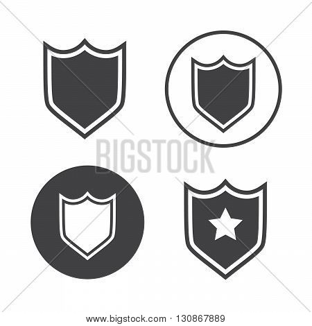 Shield icons set vector illustration. Shield black logo. Shield icons sign eps10