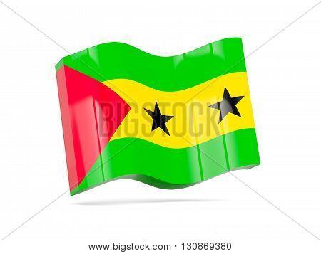 Wave Icon With Flag Of Sao Tome And Principe