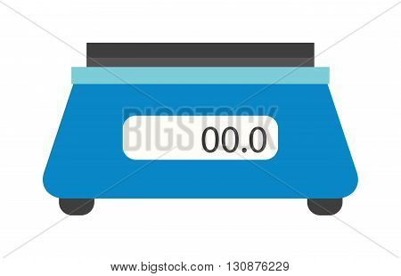 Included electronic kitchen scales isolated and flat vector kitchen scales. Kitchen scales domestic instrument and kitchen utensil kitchen scales. Kitchen scales weigh measurement balance instrument.