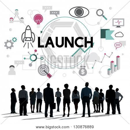 Launch Begin Introduce Kick Off New Business Concept poster