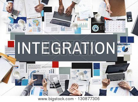 Integration Combine Blend Merge Togetherness Concept