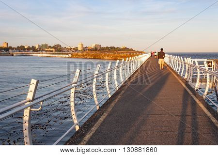 Walking Down the Ogden Point Breakwater in Victoria British Columbia