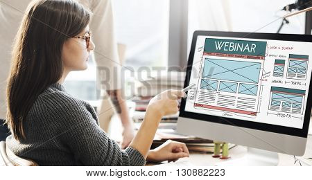 Webinar Computer Education Learning Technology Concept