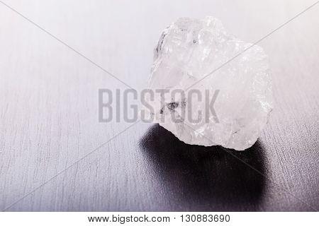 Rock Crystal On Wood