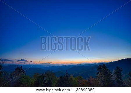 Springtime at Scenic Blue Ridge Parkway Appalachians Smoky Mountains