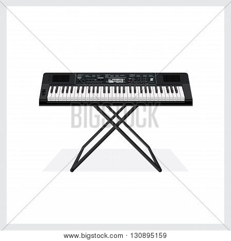 Vector Illustration Keyboard instrument on White Background