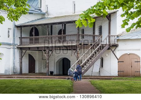 Vologda, Russia - May 24: This is part of the Vologda Kremlin courtyard May 24, 2013 Vologda, Russia.