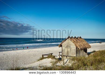 Beach Tiki Hut Bar on the Ocean