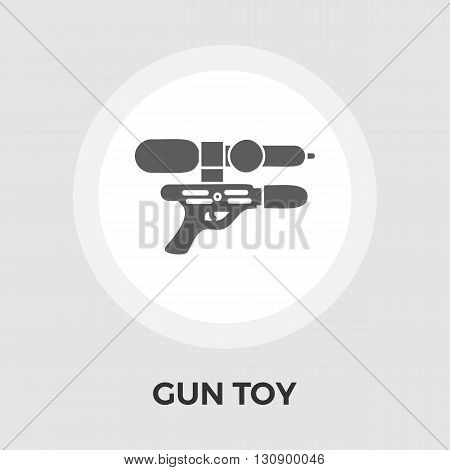 Gun Toy Icon Vector. Flat icon isolated on the white background. Editable EPS file. Vector illustration.