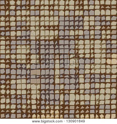 irregular grid tiled pattern in brown lavender beige