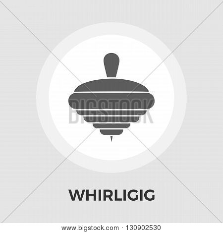 Whirligig icon vector. Flat icon isolated on the white background. Editable EPS file. Vector illustration.
