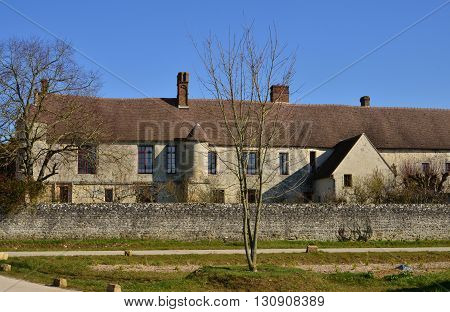Omerville France - february 29 2016 : the renaissance manor Mornay Villarceaux