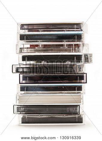 Stack Of Old Cassettes
