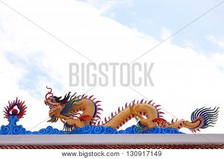 Dragon of Shrine on the shrine roof.