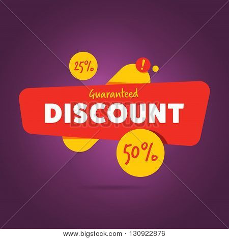 Discount sticker. Offer sticker. Discount label. Special discount vector label. Sale sign. Discount element template. Special offer sticker. Promo sticker. Discount icon. Discount vector banner. Sale.