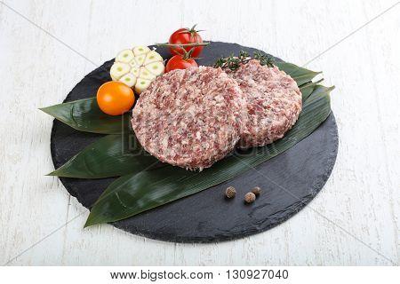 Raw Burger Cutlet