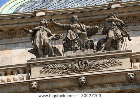 Detail of the National Theater in Prague
