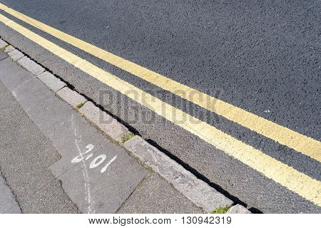 Double Yellow Traffic Lines