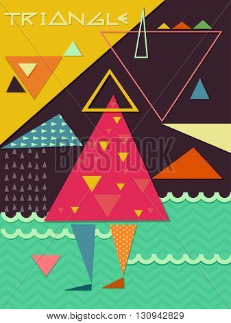 Geometric Illustration Featuring Overlapping Triangles
