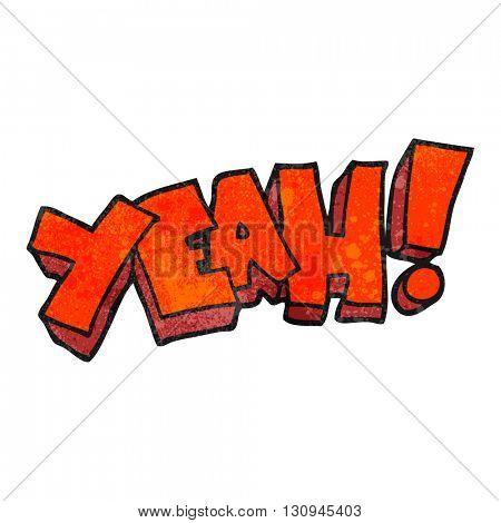 yeah! freehand textured cartoon shout