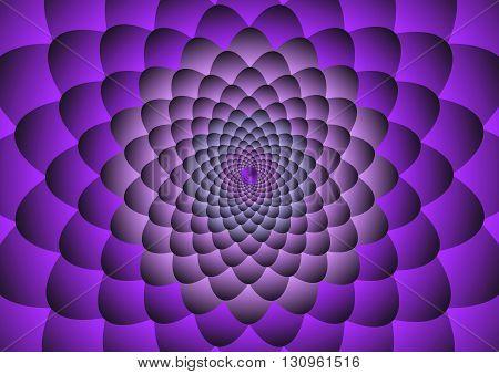 Purple flower Illusion Background Vector Illustration design.