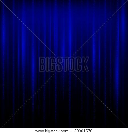 Matrix an abstract background the movement of vertical figures on a blue background.