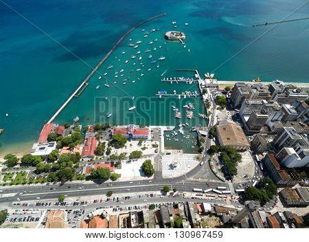 Aerial view of Salvador City in Bahia, Brazil