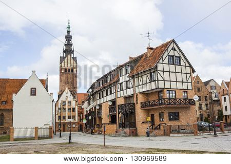 ELBLAG, POLAND - APRIL 8: Cathedral of Saint Nicholas in the center of Elblag on April 8, 2012 in Elblag.