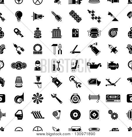 Car spare parts vector seamless pattern. Endless pattern car part,  gear spare car part, background seamless part car illustration