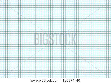 Five millimeters cyan grid on a4 size horizontal sheet