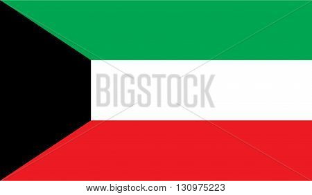 Kuwait flag image for any design in simple style