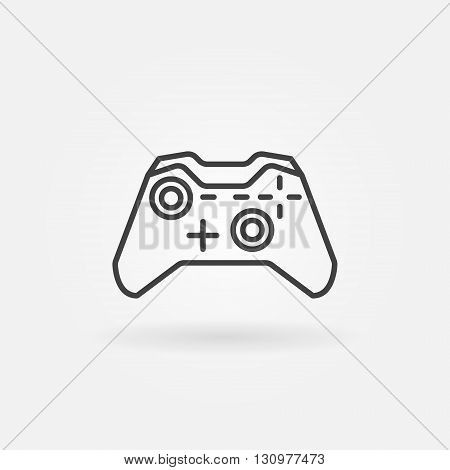 Game controller line icon - vector gaming joystick symbol or sign in thin line style