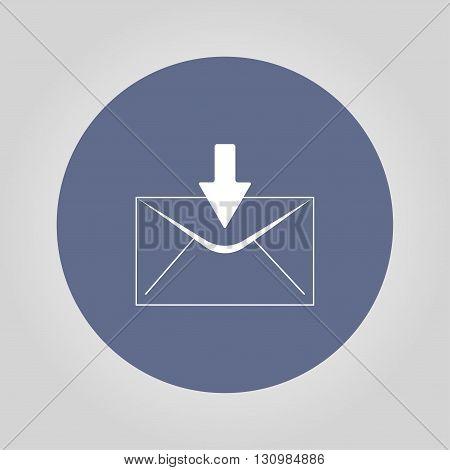 envelope mail symbol. Flat design style. EPS